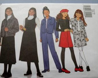 Butterick 6286 size 7,8,10 Girls Jacket, Jumper, Skirt and Pants Uncut