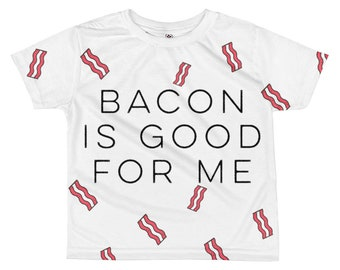 Bacon is good for me infant baby shirt | Toddler bacon gift top | Don't go bacon my heart