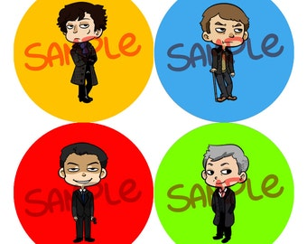 BBC SHERLOCK Buttons!