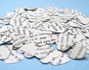 1000 Heart Book Novel Confetti - 25 choices include Jane Austen, Alice in Wonderland, Great Gatsby, Harry Potter, Shakespeare Wedding Decor