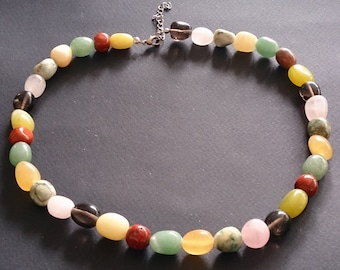 Mixed Crystal Jelly Bean Necklace