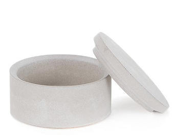 Classic Salt Cellar. Concrete Salt Cellar. Storage Container