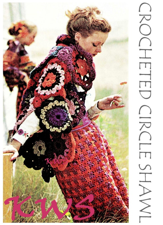 Crochet Shawl Pdf Pattern Crochet Floral Circle Shawl Pdf