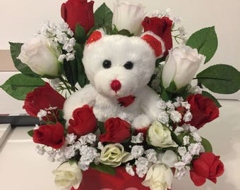 Love you Beary Much Valentine's Day Arrangemeent