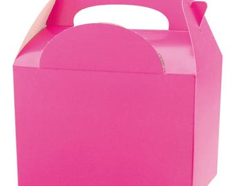 Plain Colour Party Box - Hot Pink, Pack of 10