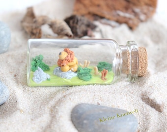 Lion Miniature bottle zodiac polymer clay decoration mini homedecoration