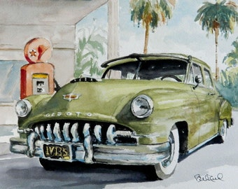 1952 Desoto - original watercolor - art print