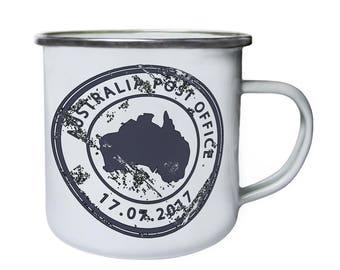 New Australia Post Office Retro,Tin, Enamel 10oz Mug m255e