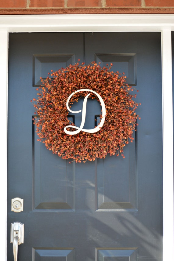 ... Fall Decor Berry Wreath  Thanksgiving Wreath  Berry Fall Wreath   Hostess Gift   Pumpkin