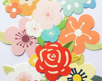 Flower Gift Cards - Set of 8 - Flower Cards - Gift Tags - Note Pad - Floral Cards - Thank you cards - Full Bloom