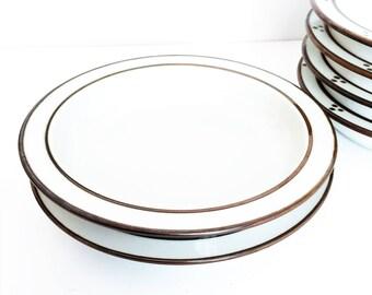 Dansk Bowls 2 Brown and white soup Bowls, Large soup bowls, set of 2