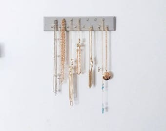 Wall Mount Jewelry Organizer | Necklace Organizer | Necklace Storage | Gifts for Her | Gift for Mom |  Necklaces | Jewelry Storage | Chains