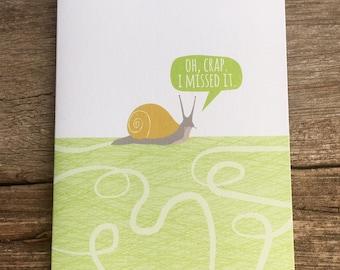 belated birthday card / snail