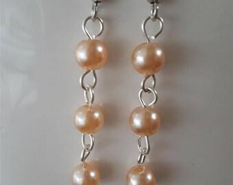 Soft Blush Dangle Earrings
