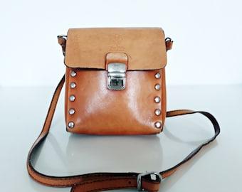 Leather Arm Bag.