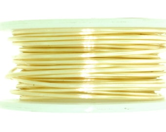 Craft wire, Wire, Gold color wire, Gold plated wire, non tarnish wire - Available 18, 20, 24, 26, 28 guage