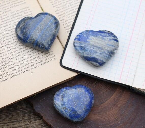 Lapis Lazuli Heart Shaped Stones, Lapis Heart, Blue Crystal Heart, Polished Lapis, Blue Heart Shaped Crystal, Pocket Stone, Valentines Day