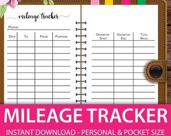 mileage log business mileage tracker mileage tracker mileage log personal planner inserts personal size planner inserts pocket size