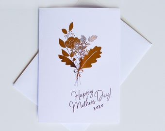 Greeting Card - Mothers Day / Flower Bunch