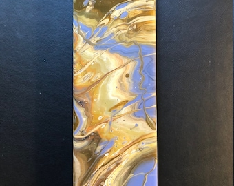 "18""x5.5""-Resin Painting on Wood Panel"