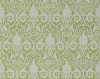 1 yard Sunshine Damask in Green  Sunshine Rose Collection by Tanya Whelan Fabric Cotton Quilting fabric Yardage By The Yard