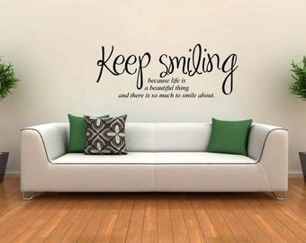 Wall sticker Keep smiling (3451n)