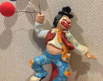 Clown Enesco  1977 Signed Annette Little