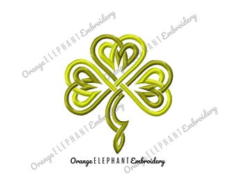 Shamrock Irish Clover Good Luck St Patrick's Day Machine Embroidery Design Digital File