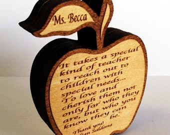 Teacher Appreciation Gift - Engraved With Your Personalization