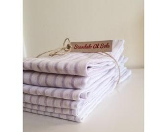 Linen Napkins - ultraviolet linen 46 x 46 cm, serviettes, grey flax napkin, minimalistic tableware, boho wedding table, Rustic napkins set