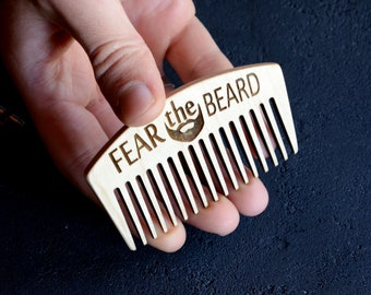 Birthday Fathers Day Gift From Kids Daughter Guy Beard Kits Hair Comb Personalized Wood Engraved Mustache Pocket Comb Dad Father Grandpa