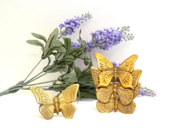 Vintage Brass Butterfly Napkin Rings Collection
