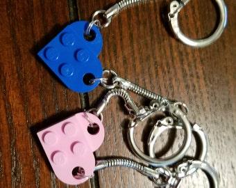 LEGO® Heart Keychains
