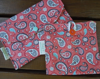 Privacy pouch - Sanitary pad holder - Sanitary pouch - Tampons holder -  Two styles to choose from -  Pantiliners case - Paisley