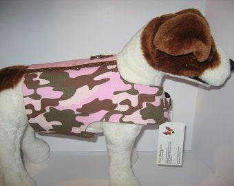 Camo Pink Dog Harness, Sizes XS, Medium, Medium Plus , Large and XL