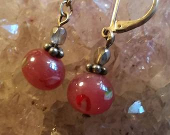 Vintage, earrings, earrings, glass, fashion jewelry, fashion jewellery, OC72