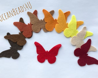 Autumn Butterflies,Felt Die Cut Shapes, Butterfly Applique for sewing and craft, felt Party Supply, DIY Wedding, Party decoration