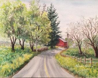 Lancaster County Road (Giclée print)