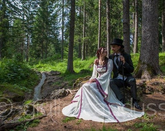 Renaissance Gown, Medieval Wedding Dress, Elvish Wedding Dress, Robe Medievale, Pre-Raphaelite Dress, Hand Fasting Gown, Medieval Gown, Mara