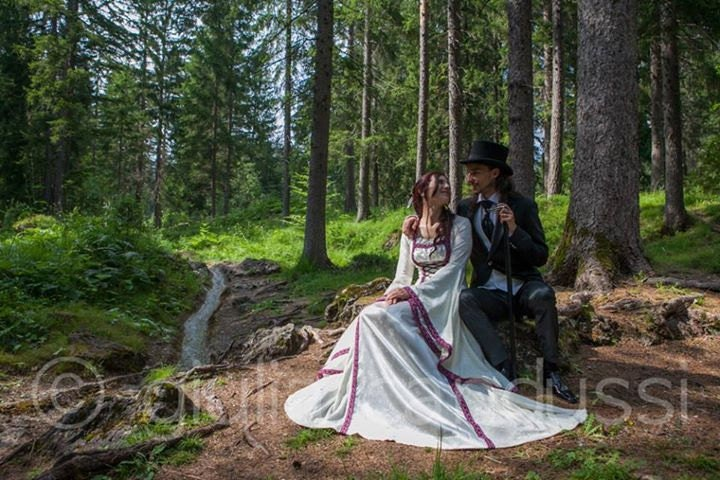 Renaissance Gown Medieval Wedding Dress Elvish Wedding