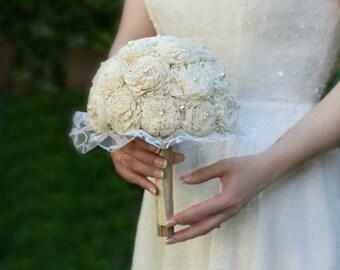 Wedding bouquets etsy nz sola wood wedding flowers wedding bouquet bridal bouquet lace bridesmaid pearl natural sola bouquet junglespirit Choice Image