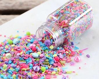 Sprinklefetti Jewel Tone Sprinkles Mix, Birthday Sprinkles, Sparkling Sugar, Sugar Pearls, Nonpareils, Cake Sprinkles, Cupcake Sprinkles