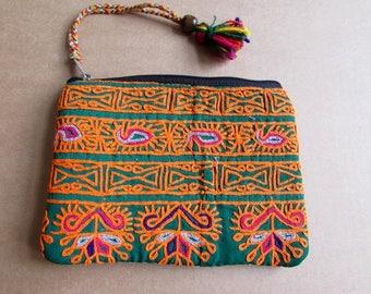 Banjara Wallet, Coin Purse, Handmade, Vintage Boho Purse Tribal Clutch Bag. Free UK Shipping B5