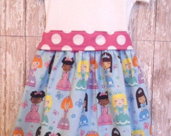 Girls Princess First Birthday Dress, Birthday Dress, Girls Dress, Ready To Ship, Size 12M