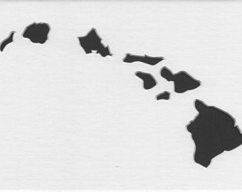 Pack of 3 Hawaii State Stencils,Made from 4 Ply Mat Board 16x20, 11x14 and 8x10 -Package includes One of Each Size