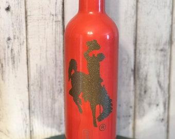 Coral/Gold Glitter Steamboat Brumate Winesulator