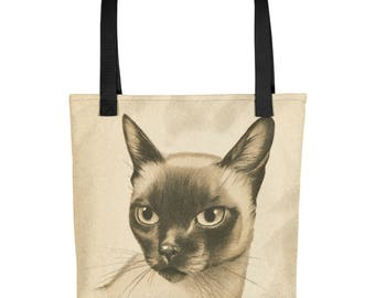 Vintage Siamese Cat - Tote Bag