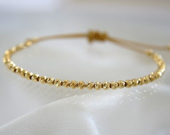 Shine high quality precious metal beads nylon friendship bracelet precious metal beads nylon friendship bracelet