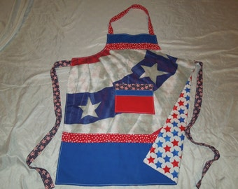 Patriotic Red White and Blue Kitchen and Craft Apron