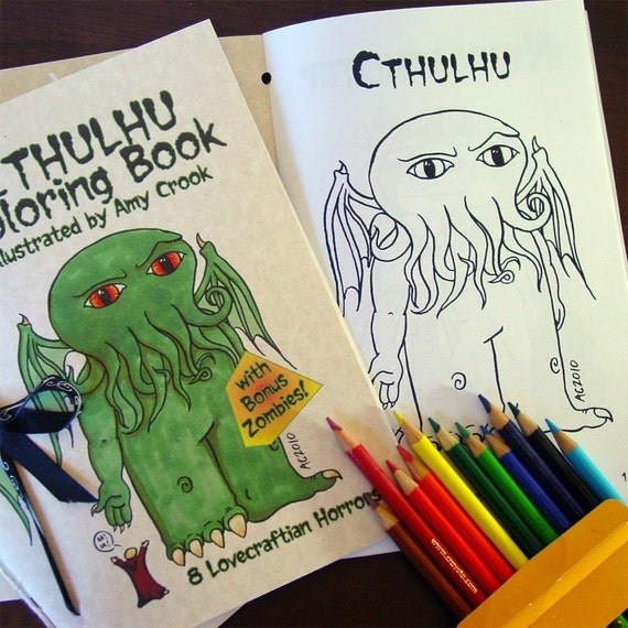 Cthulhu Coloring Book With Bonus Zombies Download And Print